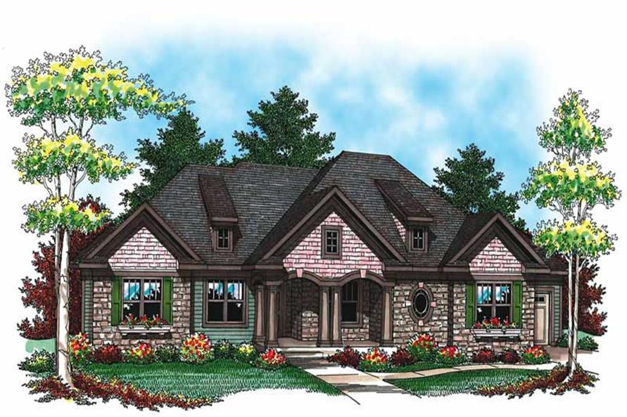 3-Bedroom, 2117 Sq Ft Ranch House Plan - 101-1063 - Front Exterior
