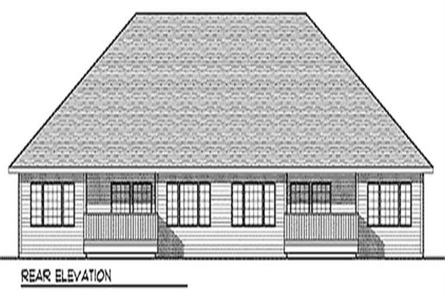 Home Plan Rear Elevation of this 2-Bedroom,2776 Sq Ft Plan -101-1065