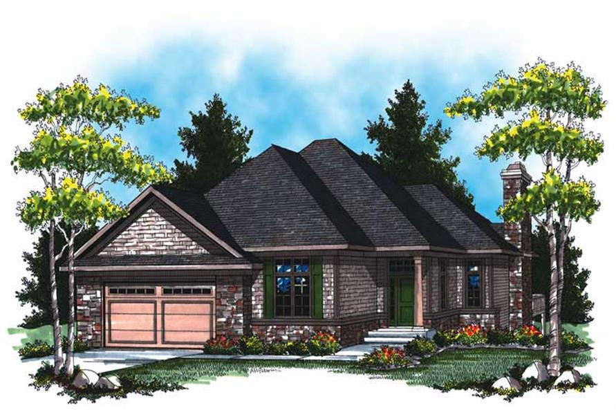 3-Bedroom, 2643 Sq Ft Country House Plan - 101-1066 - Front Exterior