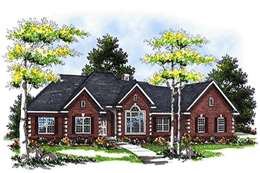3-Bedroom, 2790 Sq Ft Colonial Home Plan - 101-1067 - Main Exterior