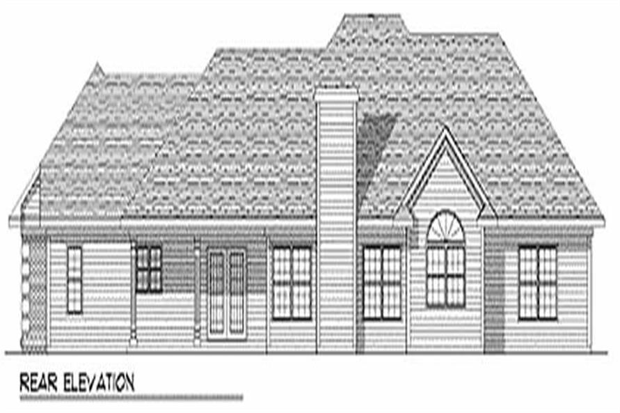 Home Plan Rear Elevation of this 3-Bedroom,2790 Sq Ft Plan -101-1067