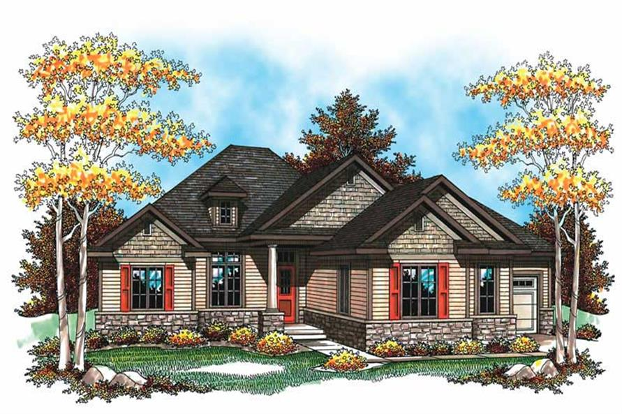 3-Bedroom, 2212 Sq Ft Ranch Home Plan - 101-1068 - Main Exterior