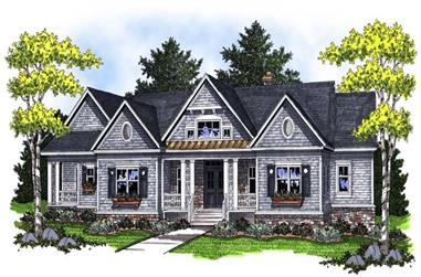 4-Bedroom, 4579 Sq Ft Country Home Plan - 101-1070 - Main Exterior