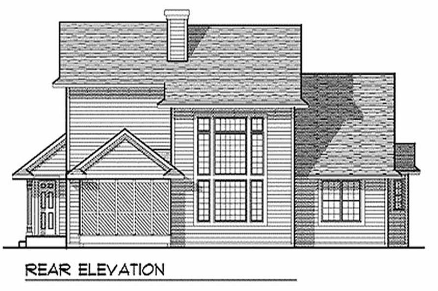 Home Plan Rear Elevation of this 4-Bedroom,2155 Sq Ft Plan -101-1071