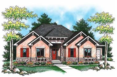 3-Bedroom, 3140 Sq Ft Ranch House Plan - 101-1072 - Front Exterior