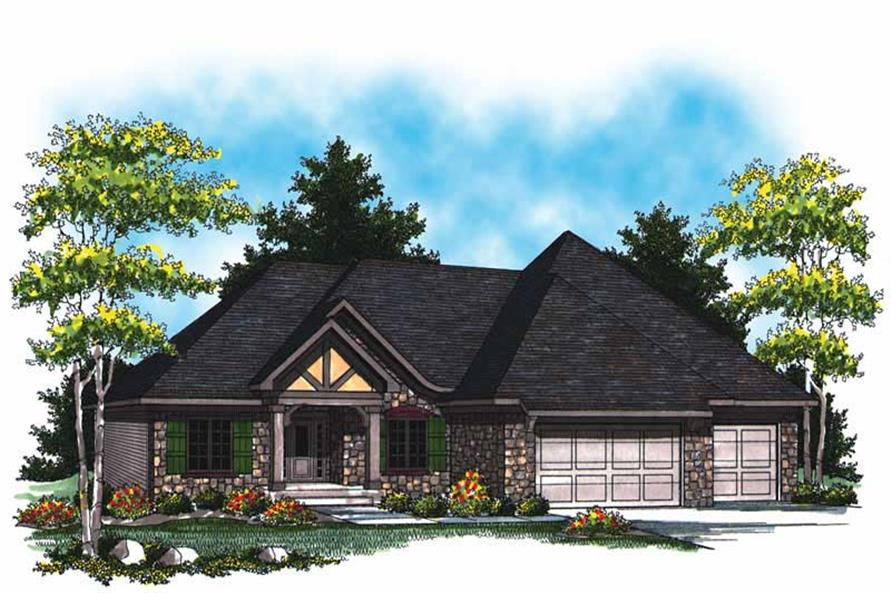 3-Bedroom, 2007 Sq Ft Country Home Plan - 101-1075 - Main Exterior