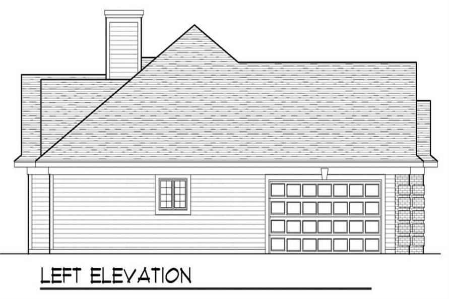 Home Plan Left Elevation of this 3-Bedroom,2229 Sq Ft Plan -101-1077