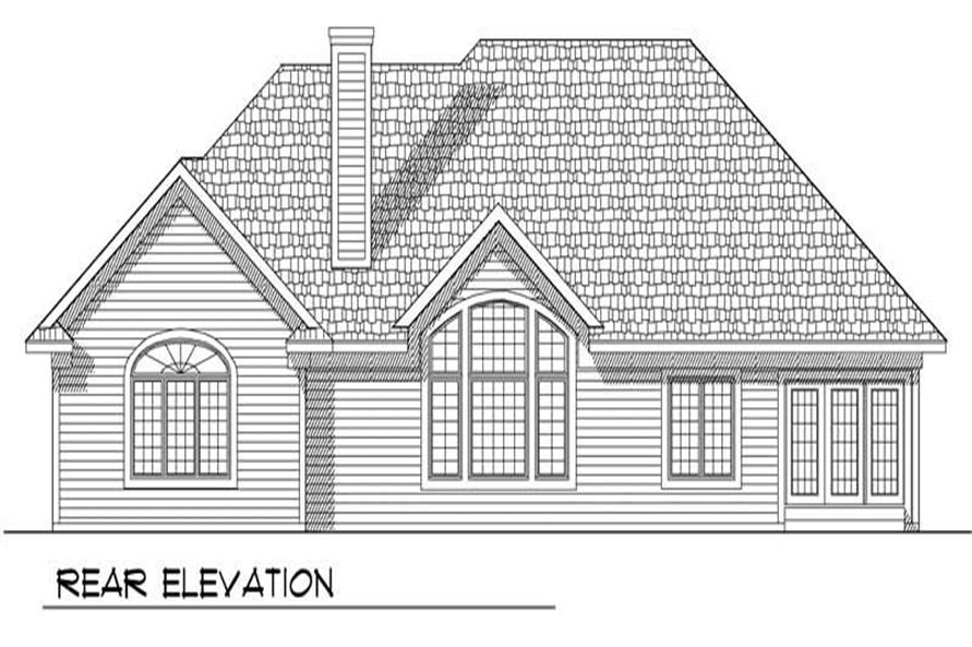 Home Plan Rear Elevation of this 3-Bedroom,2229 Sq Ft Plan -101-1077