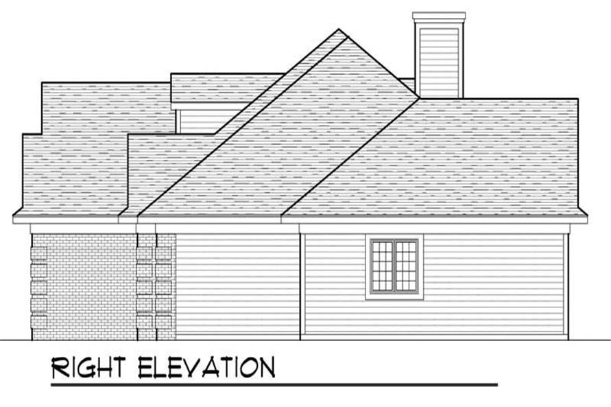Home Plan Right Elevation of this 3-Bedroom,2229 Sq Ft Plan -101-1077