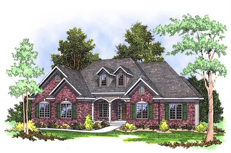 3-Bedroom, 2229 Sq Ft Country Home Plan - 101-1077 - Main Exterior