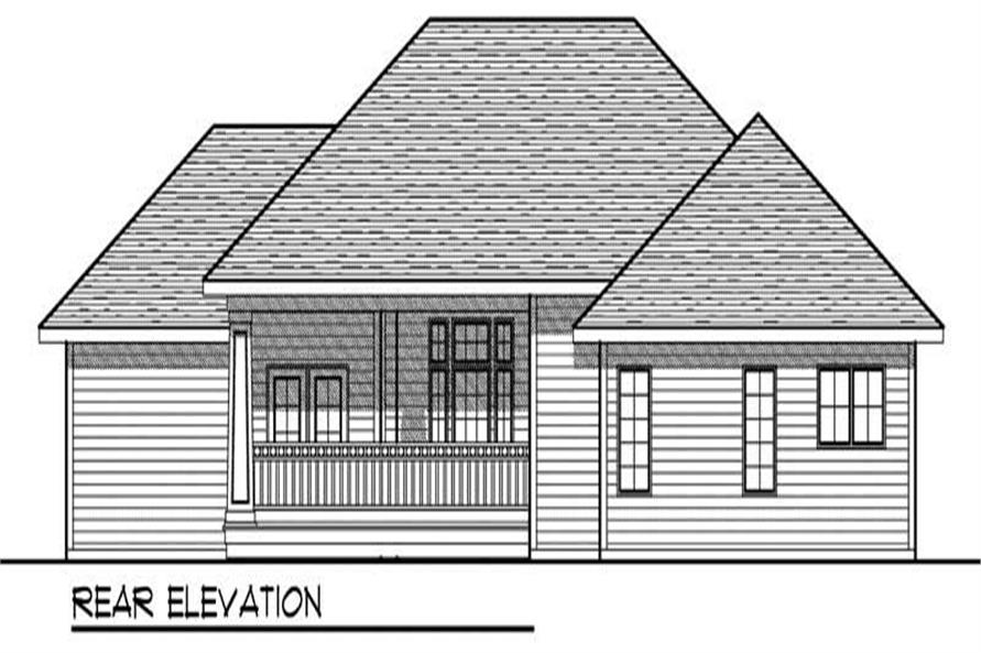 Home Plan Rear Elevation of this 2-Bedroom,1814 Sq Ft Plan -101-1078