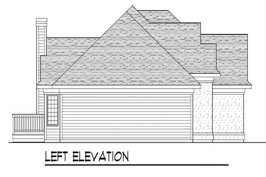 Home Plan Left Elevation of this 3-Bedroom,2007 Sq Ft Plan -101-1079