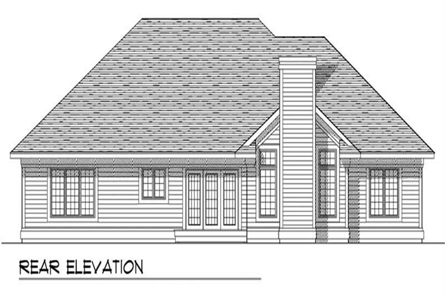 Home Plan Rear Elevation of this 3-Bedroom,2007 Sq Ft Plan -101-1079