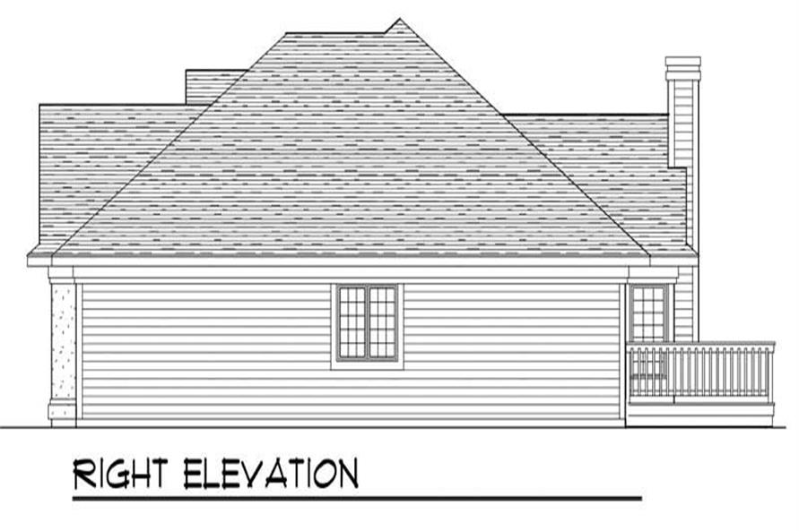 Home Plan Right Elevation of this 3-Bedroom,2007 Sq Ft Plan -101-1079