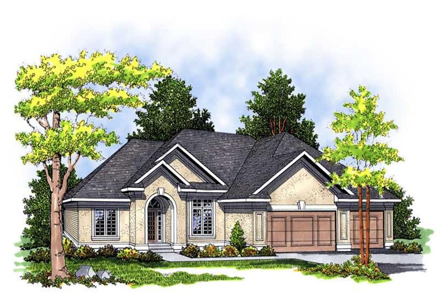 3-Bedroom, 2007 Sq Ft Ranch Home Plan - 101-1079 - Main Exterior