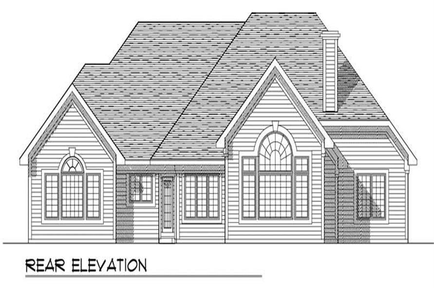 Home Plan Rear Elevation of this 3-Bedroom,2629 Sq Ft Plan -101-1080
