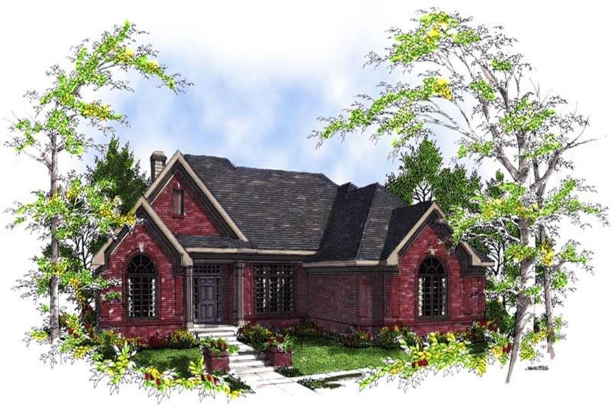 3-Bedroom, 2629 Sq Ft Ranch Home Plan - 101-1080 - Main Exterior