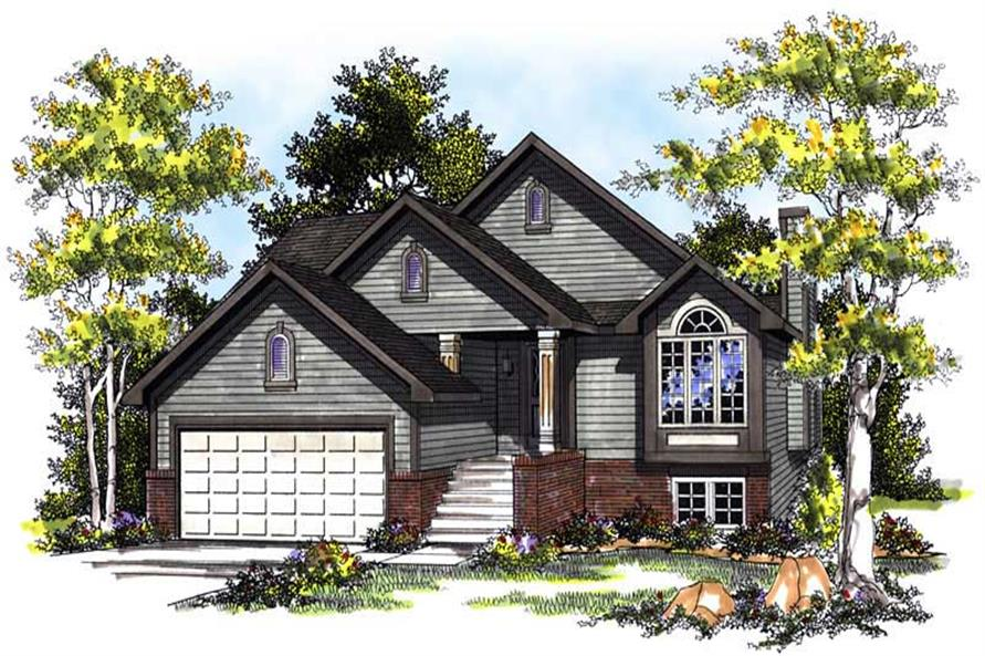 3-Bedroom, 1599 Sq Ft Small House Plans - 101-1084 - Front Exterior