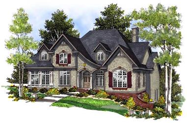 4-Bedroom, 3489 Sq Ft Country Home Plan - 101-1086 - Main Exterior