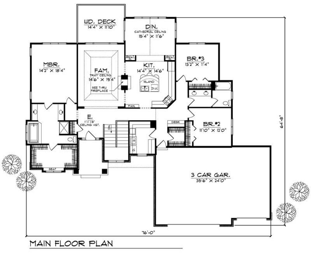 Large images for house plan 101 1087 for Main level floor plans