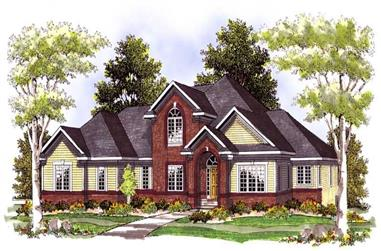 3-Bedroom, 2787 Sq Ft Southern Home Plan - 101-1088 - Main Exterior