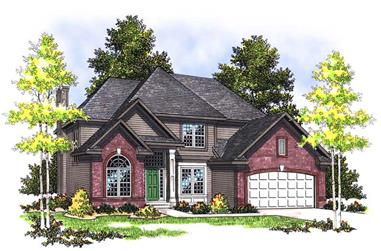 4-Bedroom, 2410 Sq Ft Traditional House Plan - 101-1089 - Front Exterior