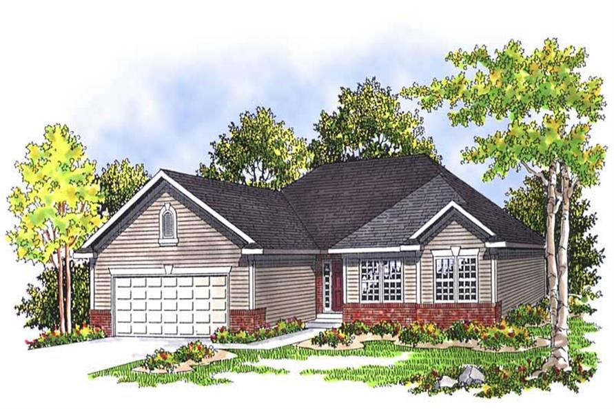 3-Bedroom, 1557 Sq Ft Ranch Home Plan - 101-1090 - Main Exterior
