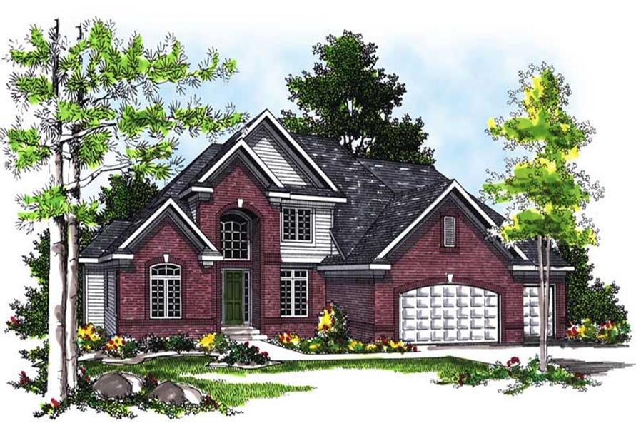 4-Bedroom, 2832 Sq Ft European House Plan - 101-1092 - Front Exterior