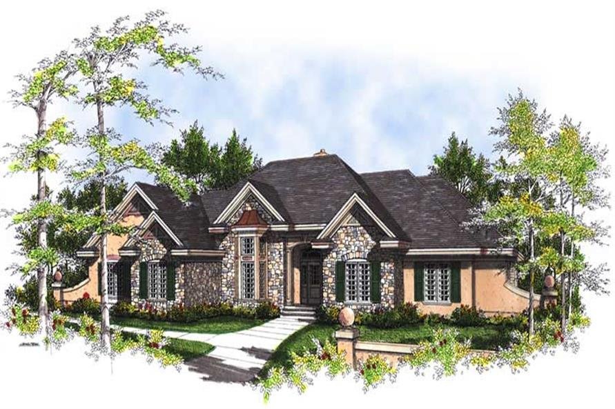 FRONT ELEVATION of this 3-Bedroom,3034 Sq Ft Plan -3034