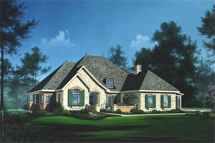 4-Bedroom, 2854 Sq Ft Craftsman Home Plan - 101-1098 - Main Exterior