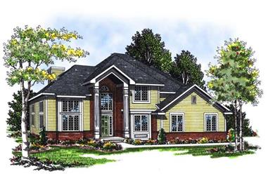 3-Bedroom, 2138 Sq Ft Colonial Home Plan - 101-1100 - Main Exterior