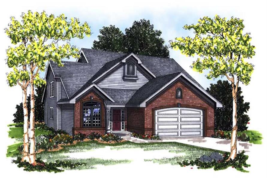 3-Bedroom, 1800 Sq Ft Craftsman Home Plan - 101-1102 - Main Exterior