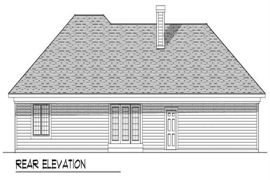 Home Plan Rear Elevation of this 3-Bedroom,1801 Sq Ft Plan -101-1106