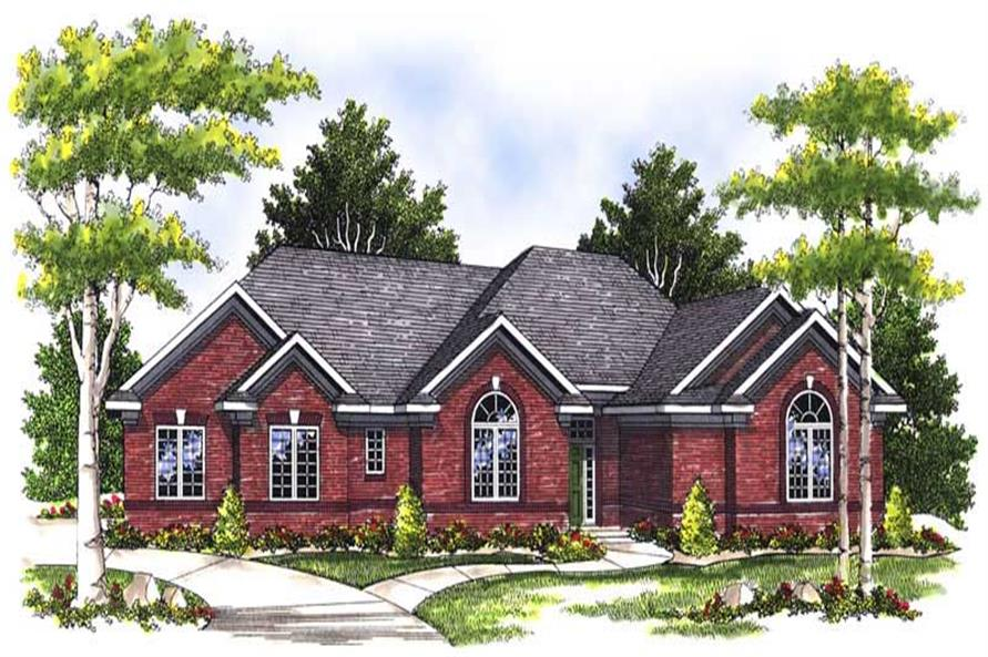 3-Bedroom, 1801 Sq Ft Ranch Home Plan - 101-1106 - Main Exterior