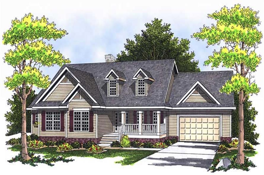 4-Bedroom, 3323 Sq Ft Ranch House Plan - 101-1107 - Front Exterior