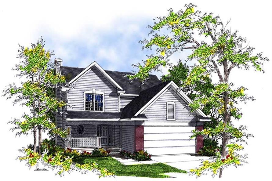 4-Bedroom, 1856 Sq Ft Country Home Plan - 101-1108 - Main Exterior