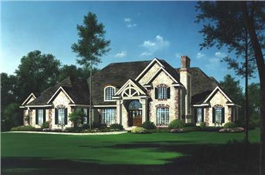 4-Bedroom, 6571 Sq Ft Luxury Home Plan - 101-1110 - Main Exterior