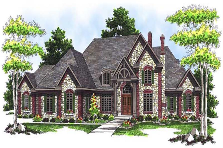 FRONT ELEVATION of this 4-Bedroom,6571 Sq Ft Plan -6571