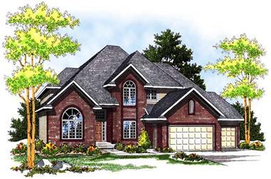 4-Bedroom, 3156 Sq Ft Craftsman House Plan - 101-1111 - Front Exterior