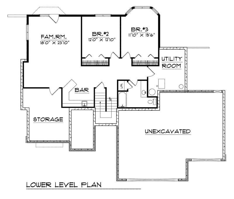 ranch traditional home with 3 bedrooms 2795 sq ft