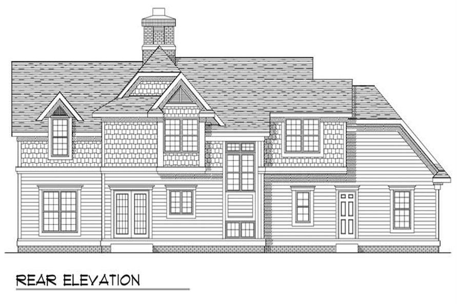Home Plan Rear Elevation of this 4-Bedroom,2301 Sq Ft Plan -101-1115