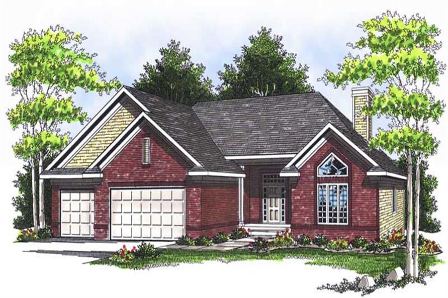 3-Bedroom, 1927 Sq Ft Ranch House Plan - 101-1117 - Front Exterior