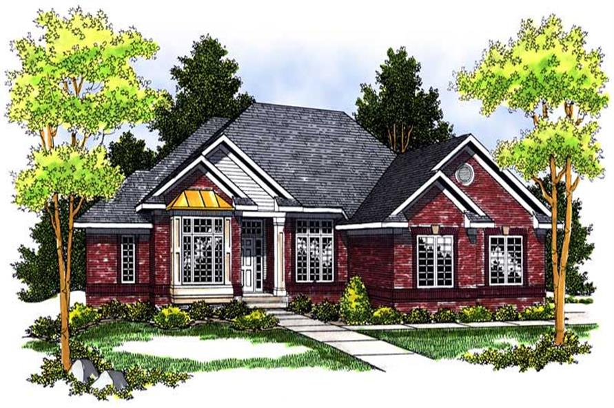 4-Bedroom, 3193 Sq Ft Ranch House Plan - 101-1118 - Front Exterior
