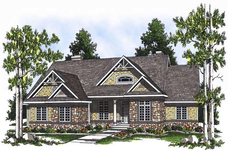 3-Bedroom, 2370 Sq Ft Ranch House Plan - 101-1120 - Front Exterior