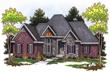 5-Bedroom, 3443 Sq Ft European House Plan - 101-1121 - Front Exterior