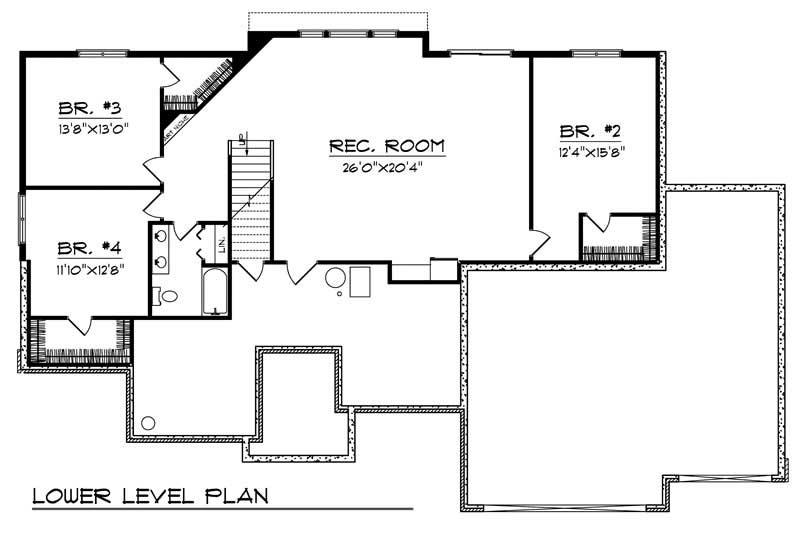 ranch home with 4 bdrms 3607 sq ft house plan 101 1122