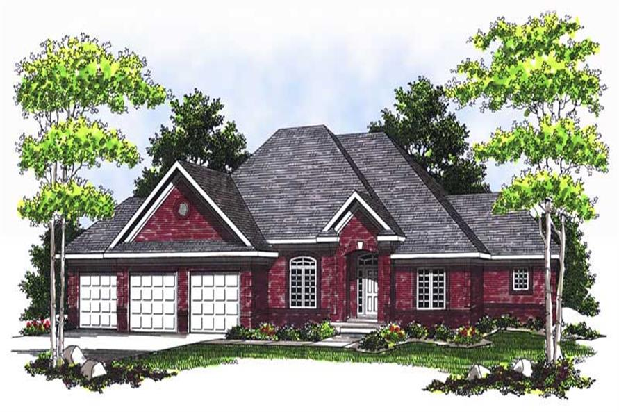 Home Plan Rendering of this 3-Bedroom,2383 Sq Ft Plan -101-1123