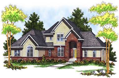 3-Bedroom, 2462 Sq Ft European Home Plan - 101-1125 - Main Exterior
