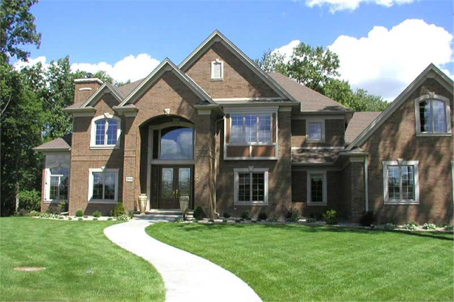 EXTERIOR PHOTO of this 4-Bedroom,5185 Sq Ft Plan -5185