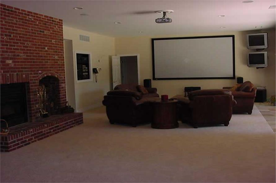 Media Room of this 4-Bedroom,5185 Sq Ft Plan -5185